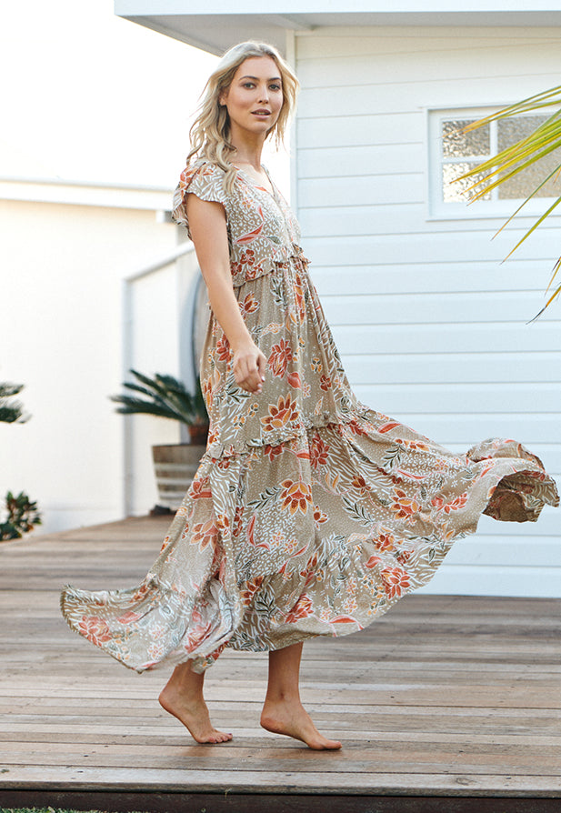 Ina Tiered Maxi Dress