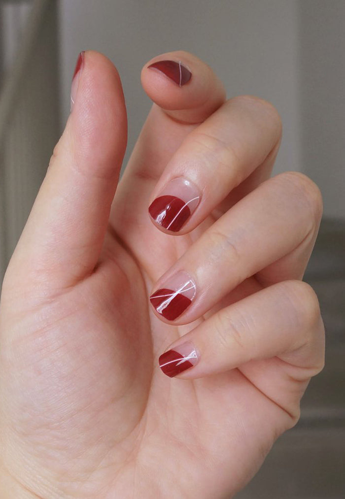 nail sticker red