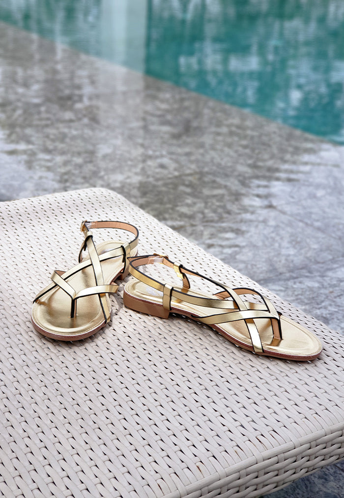 Bayou Isla Gold Sandals