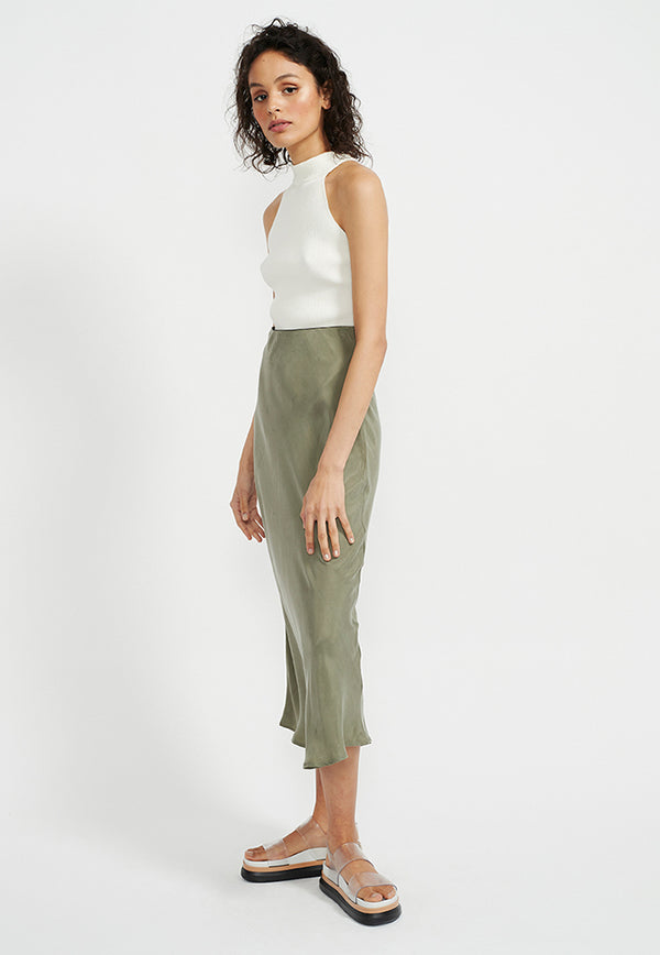 Staple the Label Harper Bias Slip Skirt