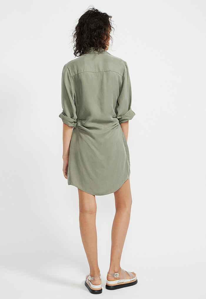 Staple the Label Harper Mini Shirtdress - Khaki