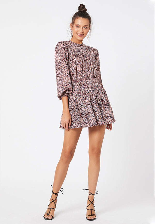 minkpink kiki floral mini dress