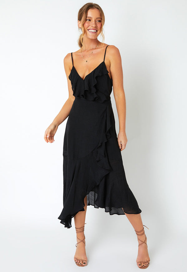 MINKPINK Merindah Frill Wrap Dress