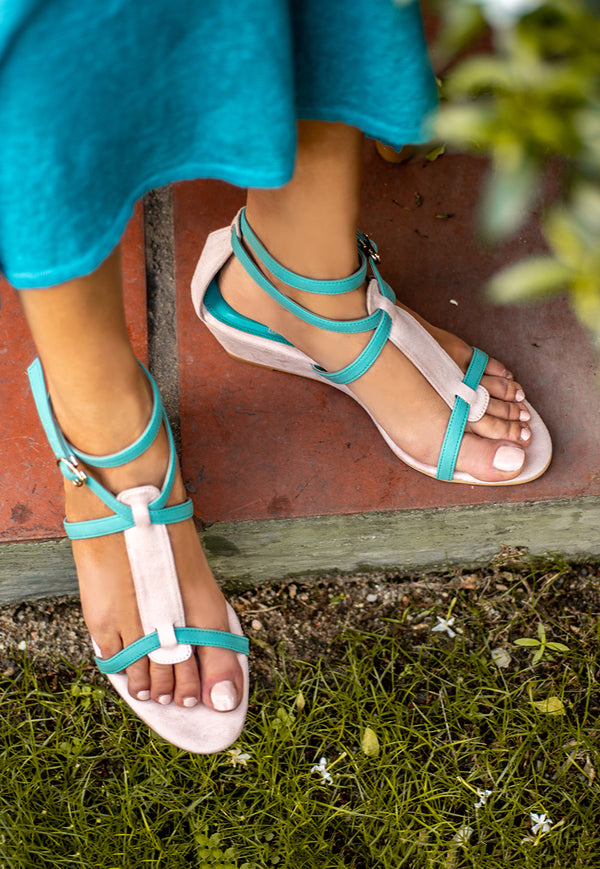 Bayou Miki Teal Wedges