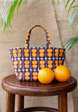 Nala Mini Box Tote - Pinafleur Orange