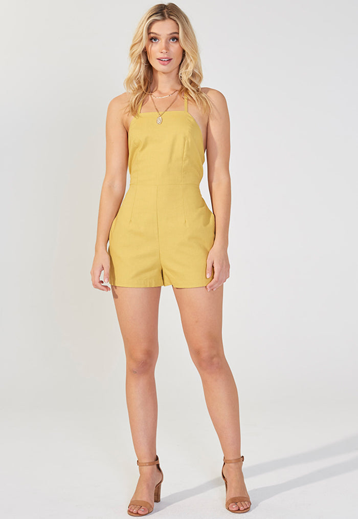 MINKPINK Honeysuckle Halter Playsuit