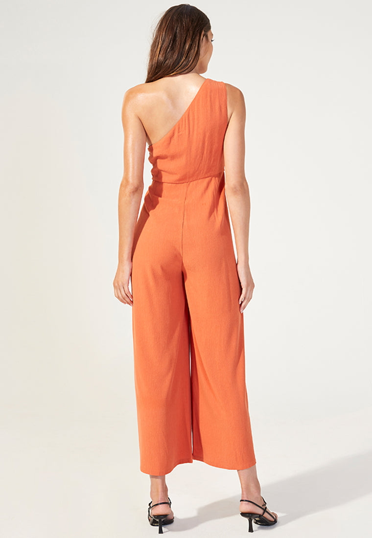 MINKPINK Sunlight One Shoulder Jumpsuit