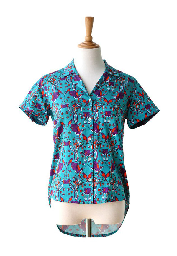 Nala Ladies Shirt - Parrot Green