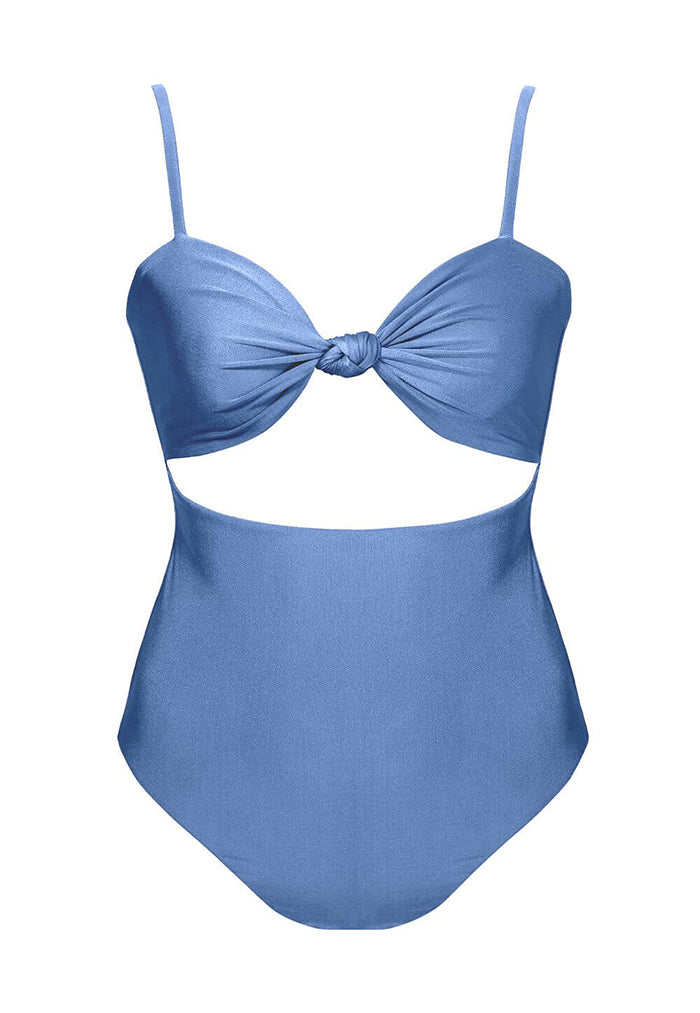 HÁI Vintage Peekaboo Swimsuit - Poppy Blue