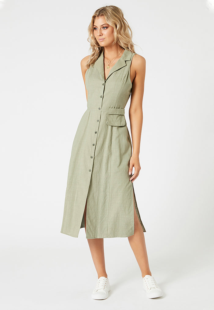 minkpink midi shirt dress