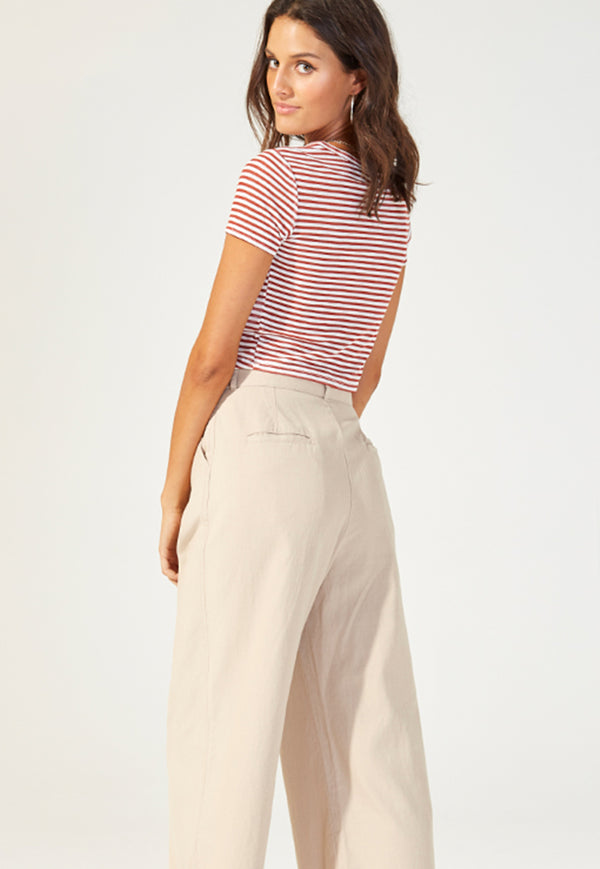 MINKPINK Salty Stripe Twist Tee