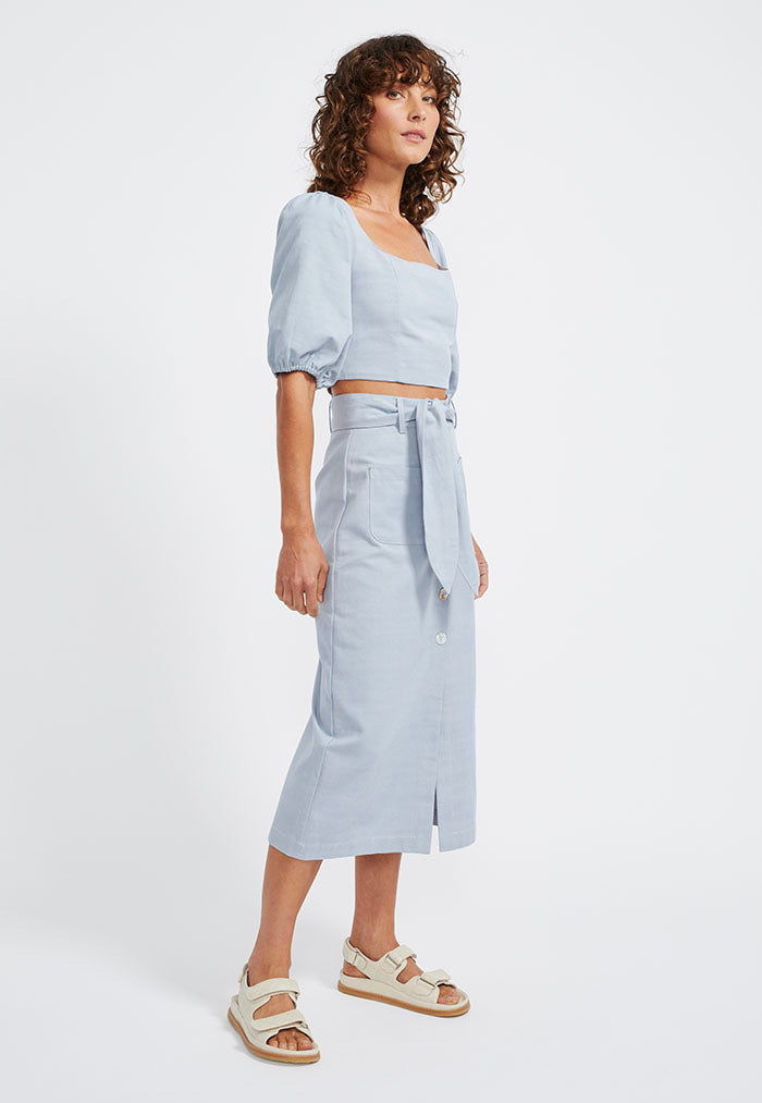 Staple the Label Elise Button Midi Skirt