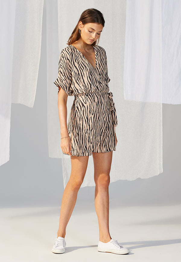 Staple the Label Savannah Wrap Mini Dress