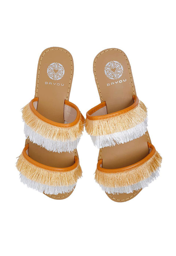 Bayou Sierra Tassel Sandals - Orange