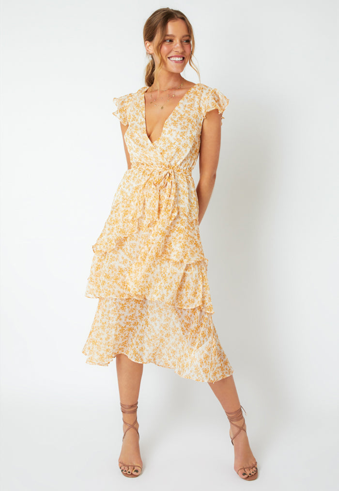 MINKPINK Sinclair Tiered Midi Dress