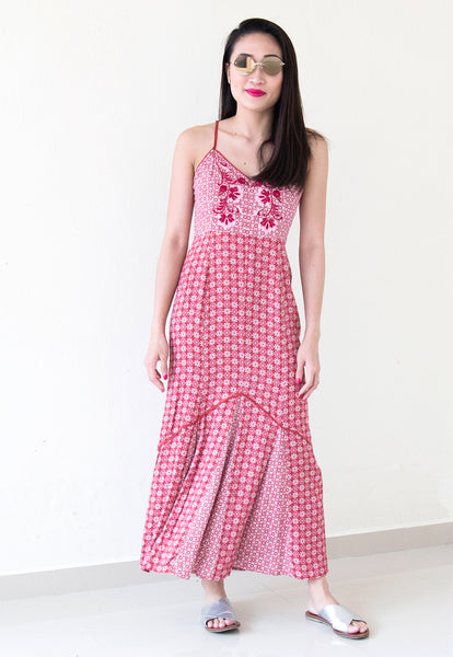 somedays lovin crimson and clover maxi dress