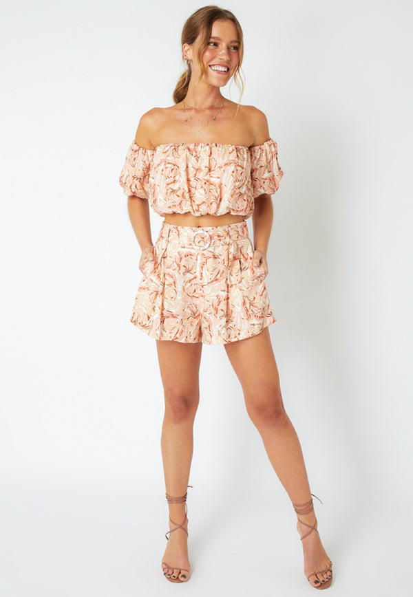MINKPINK South Coast Palm High Waist Shorts
