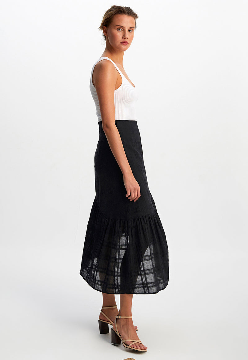 Staple the Label Midnight Wrap Midi Skirt
