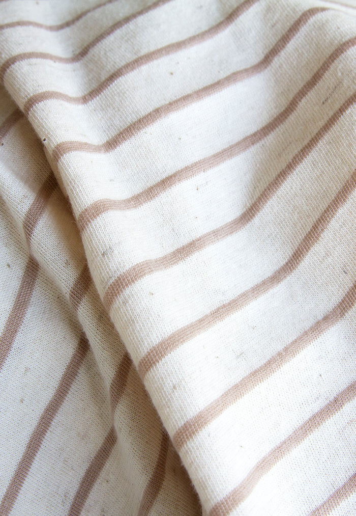 Cream and Brown striped