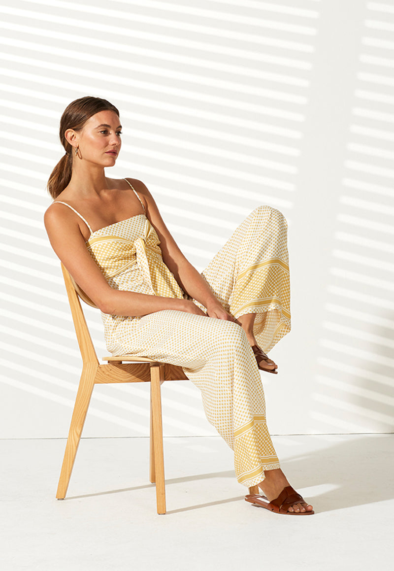Staple the Label Tangier Tie Front Jumpsuit
