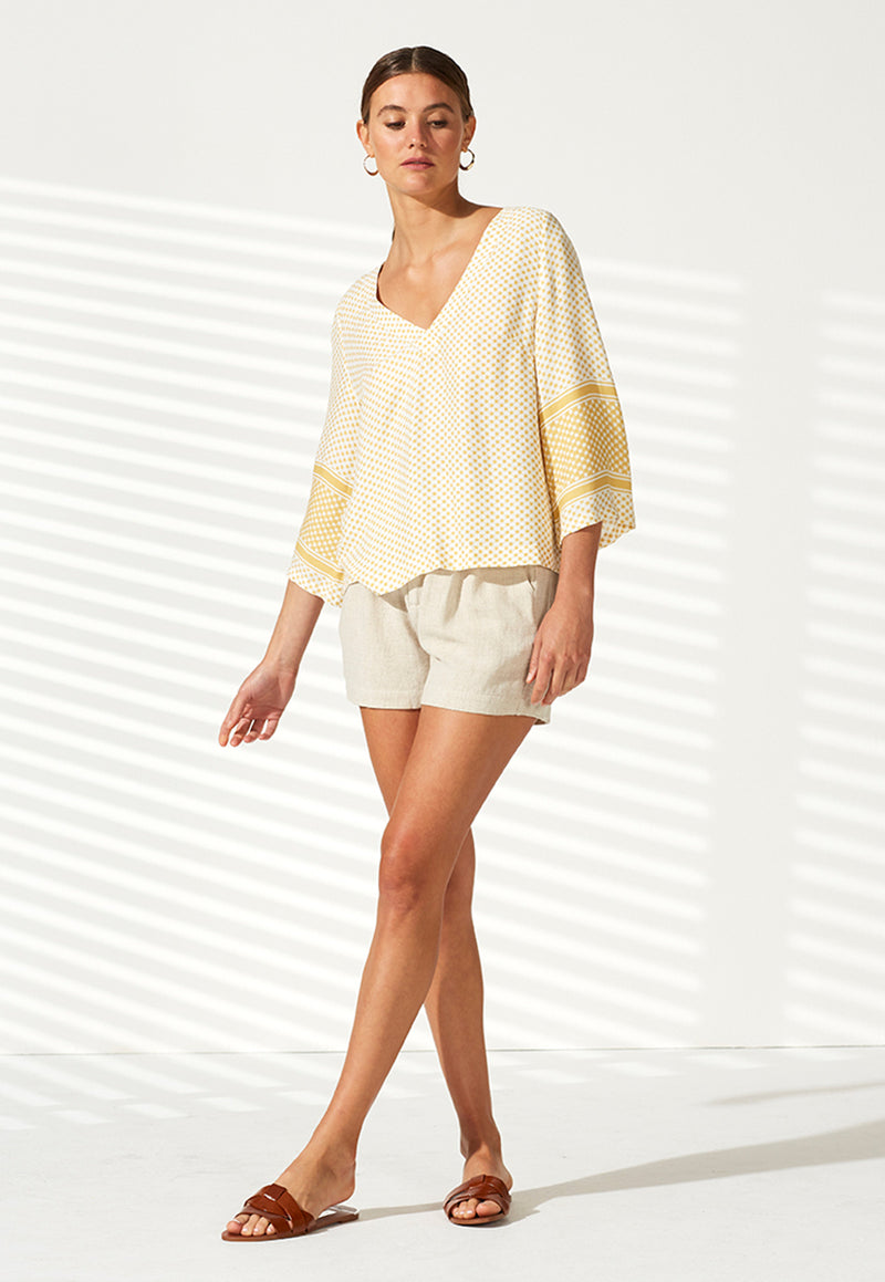Staple the Label Tangier V-Neck Blouse