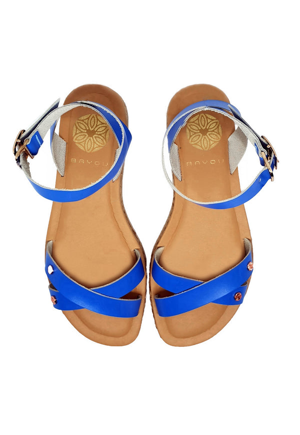 Bayou Thalia Blue Sandals