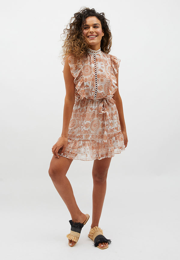 MINKPINK Winds Of Jaipur Mini Dress
