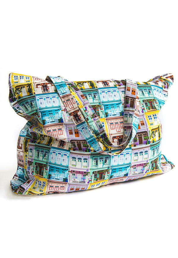 Sandra Macheroux Printed Tote Bag - Shophouses