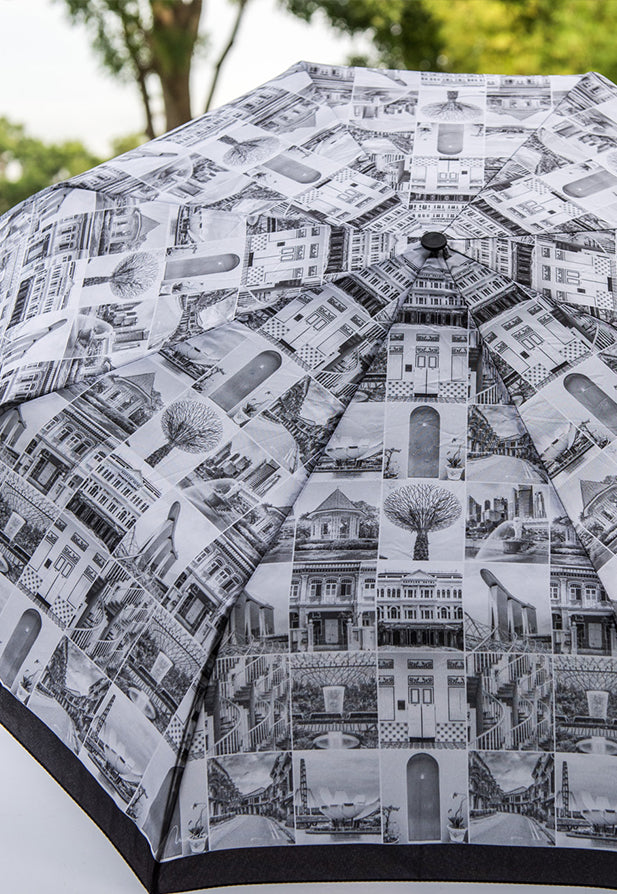 Sandra Macheroux Printed Umbrella - Old and New