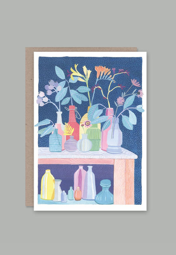 AHD Greeting Card - Vases of Flowers
