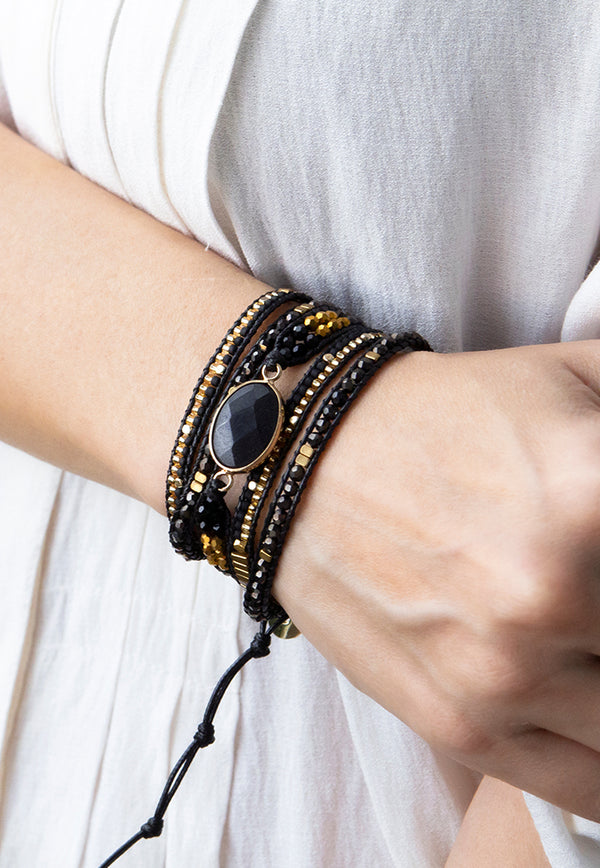 Embrace Jewellery It's A Wrap Bracelet - Midnight