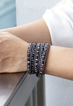 Embrace Jewellery It's A Wrap Bracelet - Indigo