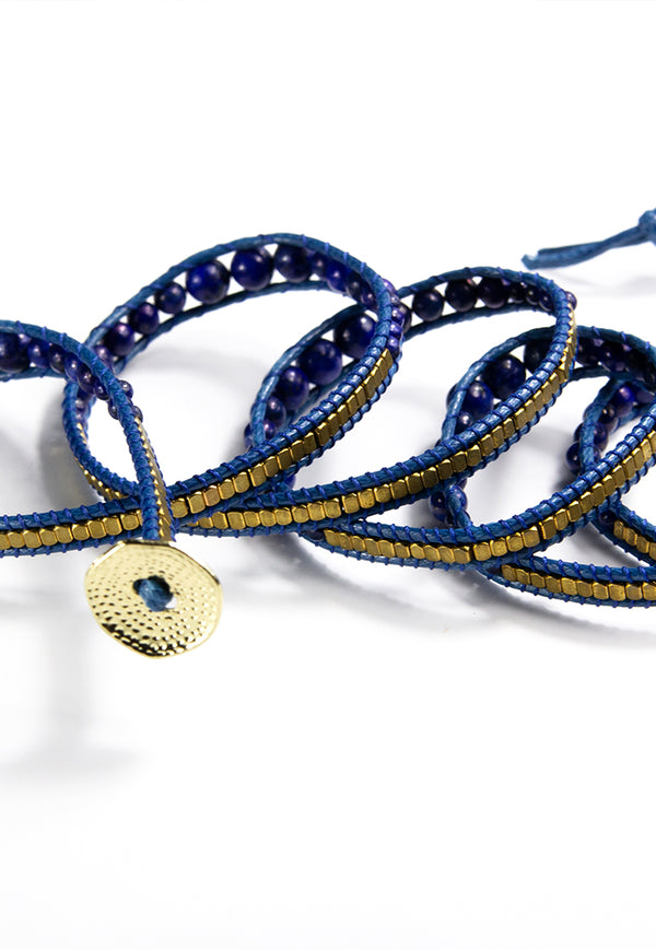 Embrace Jewellery It's A Wrap Bracelet - Cobalt