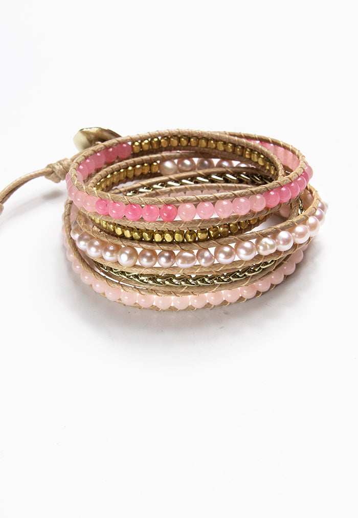 Embrace Jewellery It's A Wrap Bracelet - Flamingo