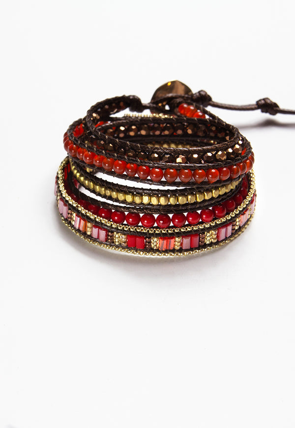 Embrace Jewellery It's A Wrap Bracelet - Scarlet
