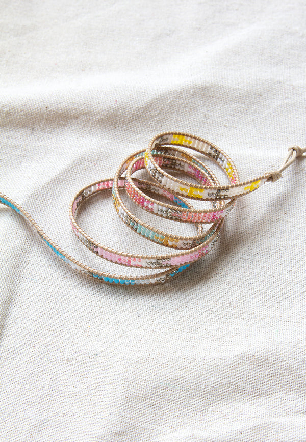 Embrace Jewellery It's A Wrap Bracelet - Rainbow Aztec