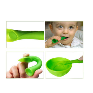 2PCS Silicon Sof-tip training spoon
