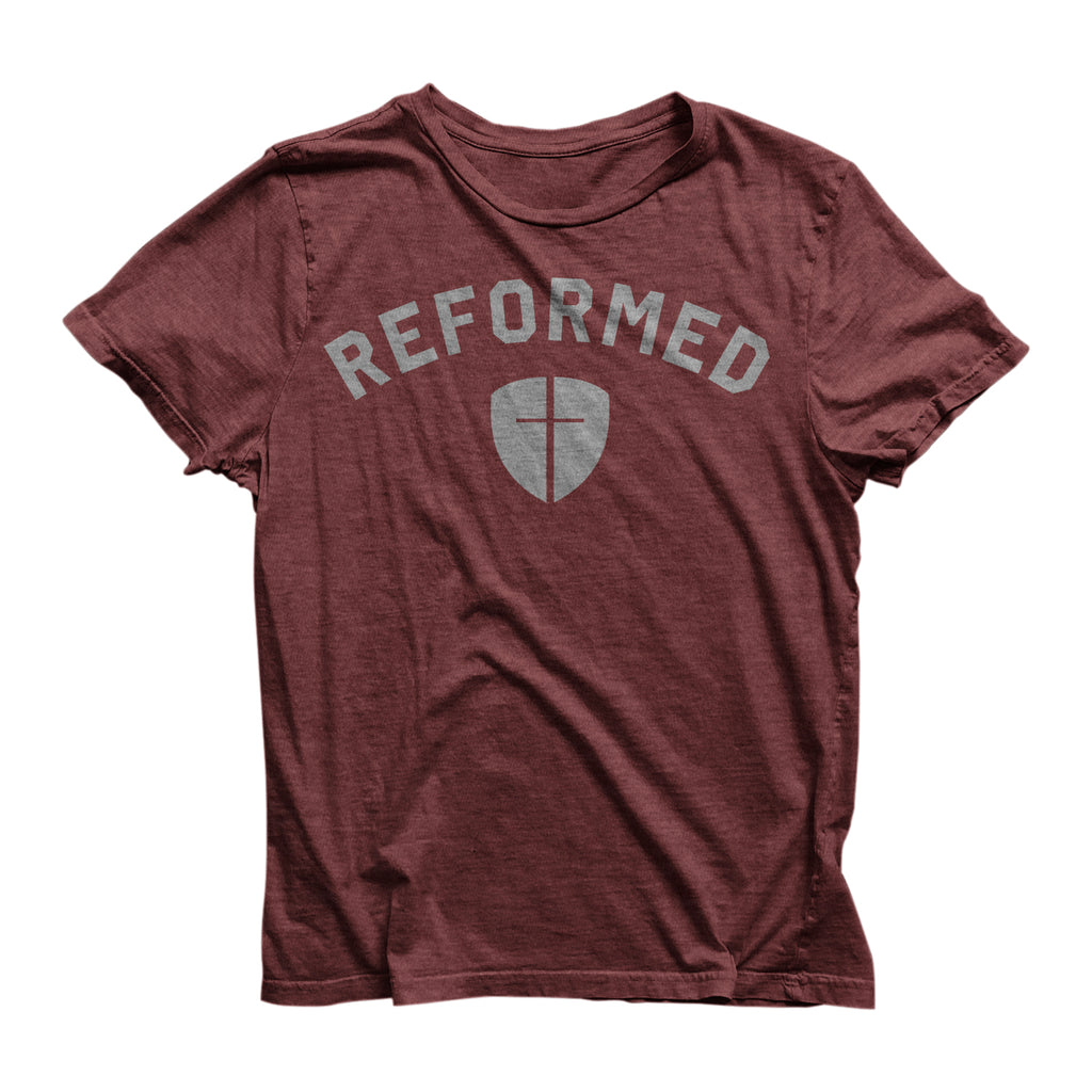 Reformed w/ Shield Tee (Maroon)
