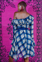 Load image into Gallery viewer, PLAID RUFFLE DRESS