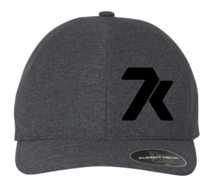 Carbon Charcoal Grey Fitted Hat with Front and Back Logo