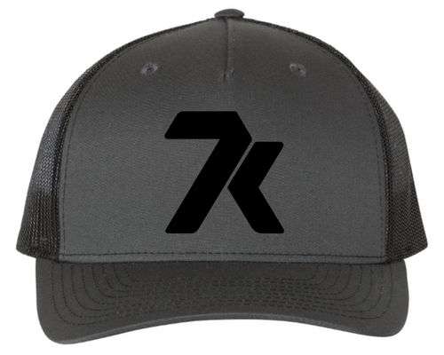 Dark Grey Snapback Hat with Black Stitched 7k Logo