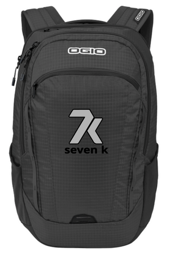 Black OGIO Backpack with Silver and Black Stitched 7k Logo