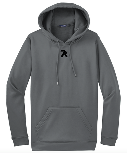 Unisex Grey Sport-Tek Hoodie with Black Printed 7k Logo