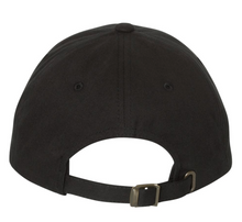 Load image into Gallery viewer, Black Yupoong Hat with Grey Stitched 7k Logo