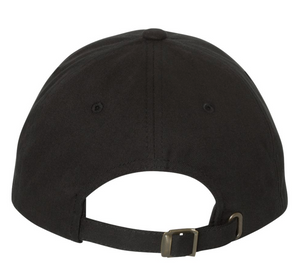 Black Yupoong Hat with Grey Stitched 7k Logo