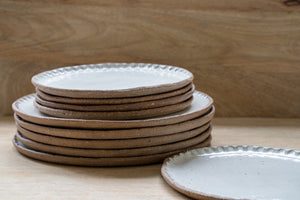 Rustic carved dinner plate