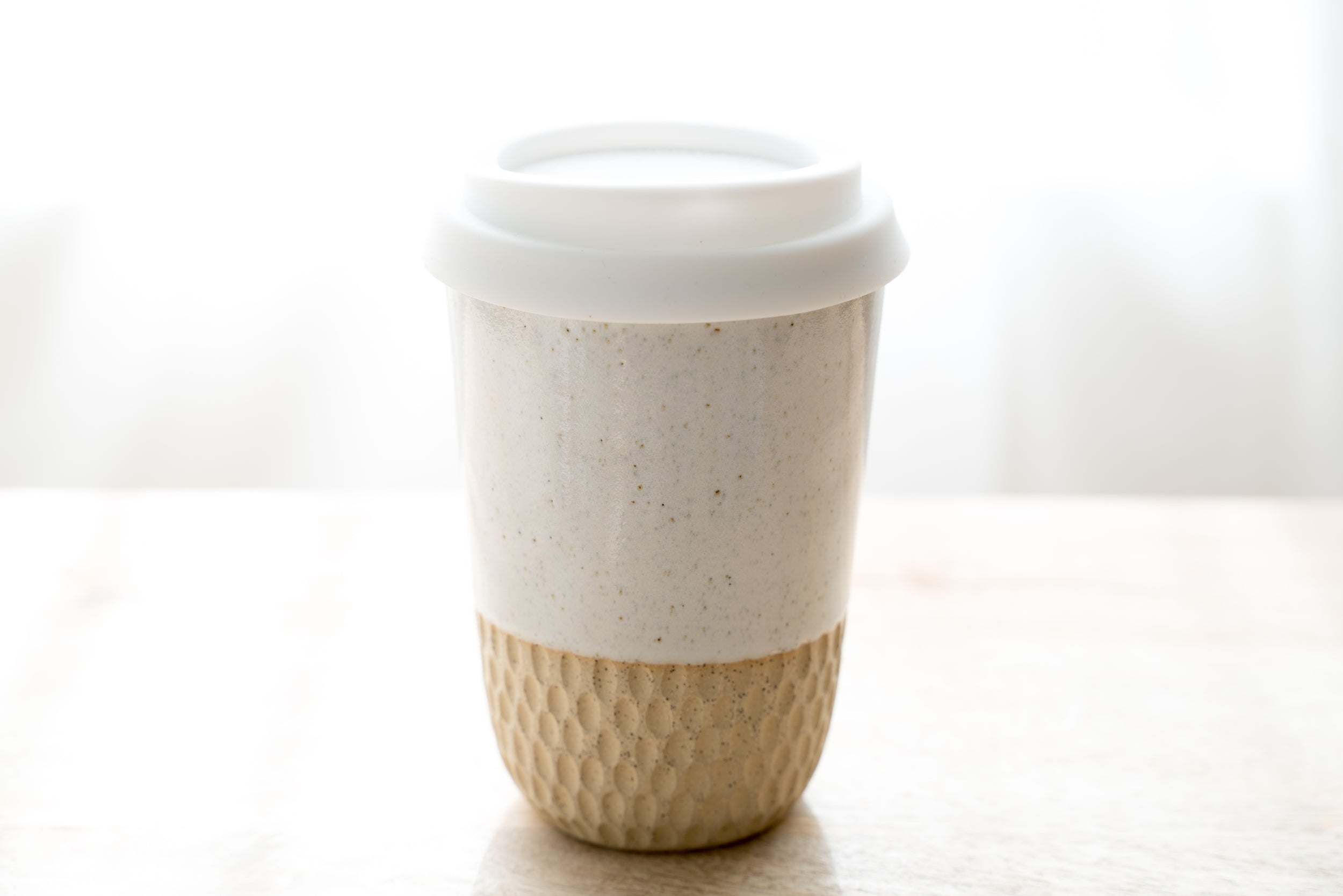 12oz Go cup in natural honeycomb