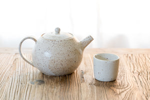 Round Speckled Teapot