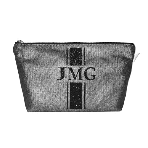 Clutch Bag with Black Glitter