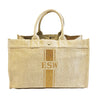 East West Bag in Flax with Gold Glitter Stripe Monogram
